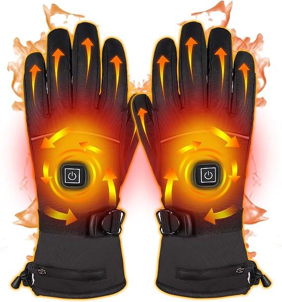 verdicken wasserdichte Winter-Thermohandschuhe wiederaufladbare Heizhandschuhe Handw/ärmer Elektrisch beheizte Handschuhe winddichtes Skifahren Outdoor-Sporthandschuhe f/ür Damen Herren