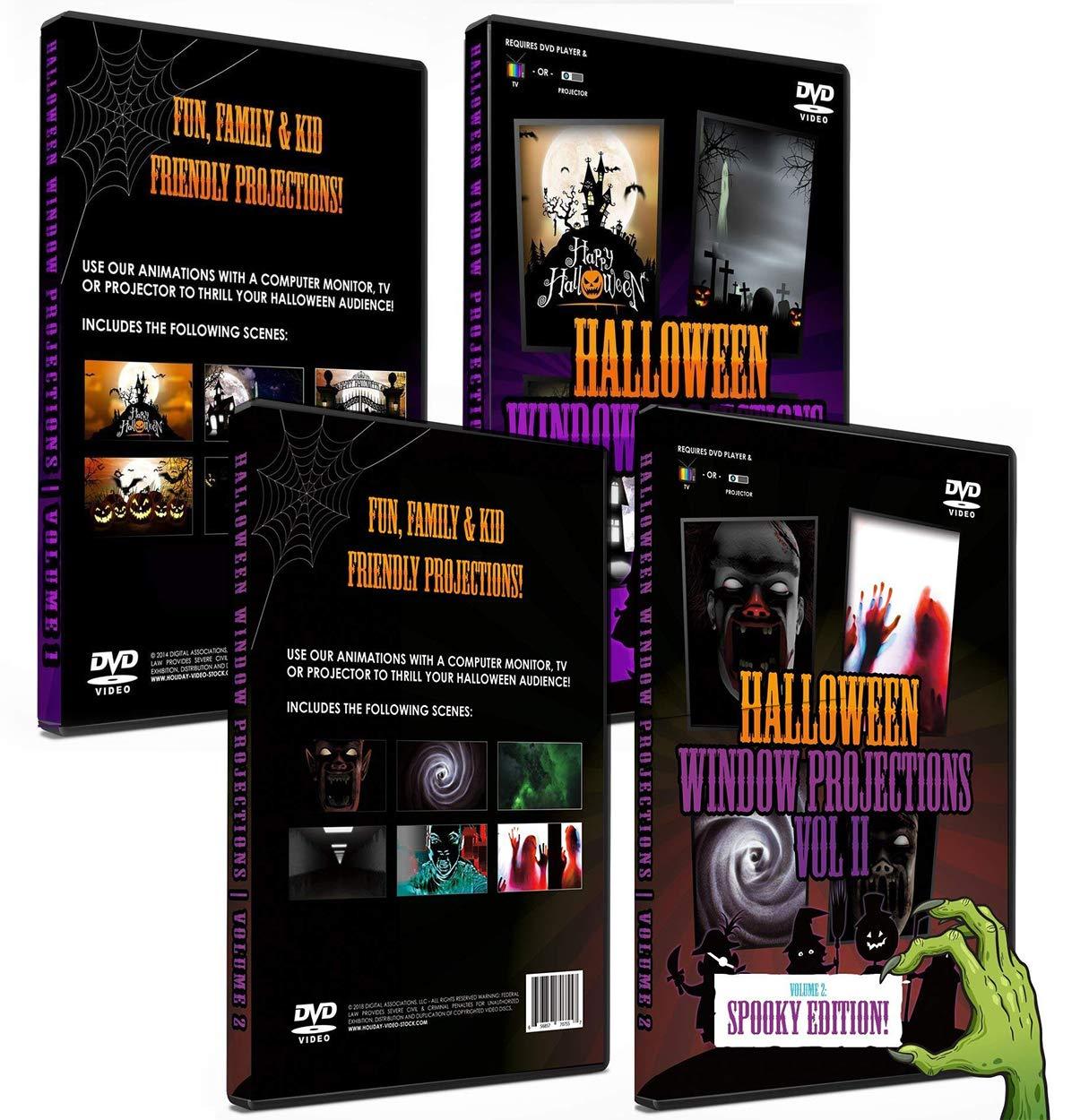 Halloween Dvd Box Set.Amazon Com 2 Dvd Box Set Halloween Digital Window Decoration Vol