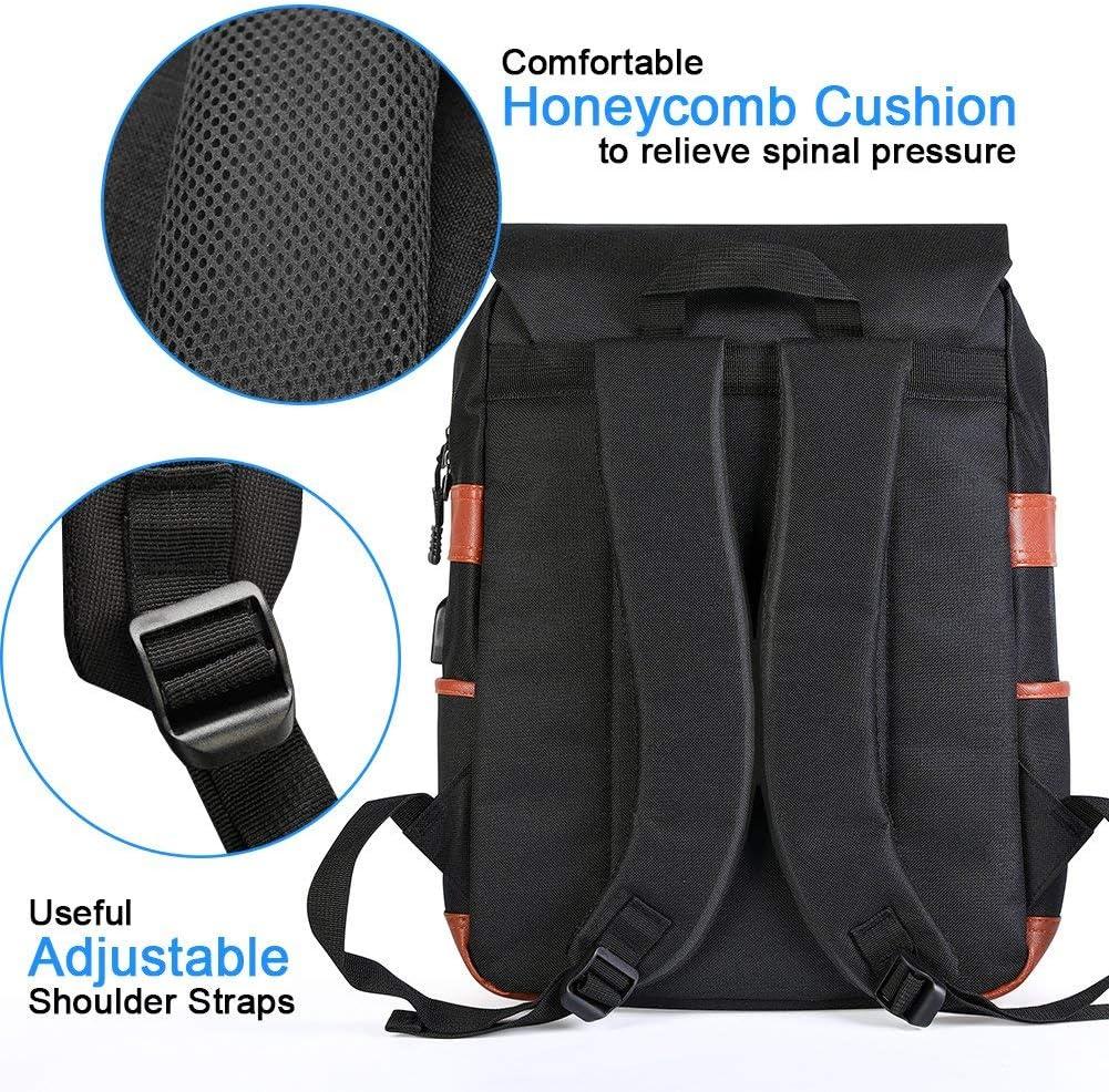 adapt/é aux ordinateurs portables de 15 pouces 203G Sac /à dos vintage pour ordinateur portable de voyage pour femmes Homme Modoker sacs d/école avec port de chargement USB