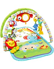 Fisher-Price Gimnasio musical animalitos de la selva, manta de juego bebé (Mattel CHP85)