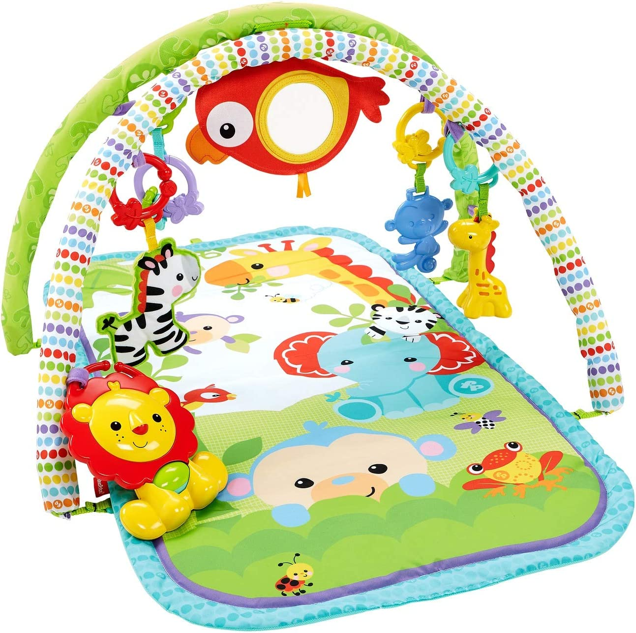 Fisher-Price-CHP85 rey leon musical animalitos, gimnasios bebe, multicolor, 52.8 x 40.9 x 7.1 (Mattel CHP85)