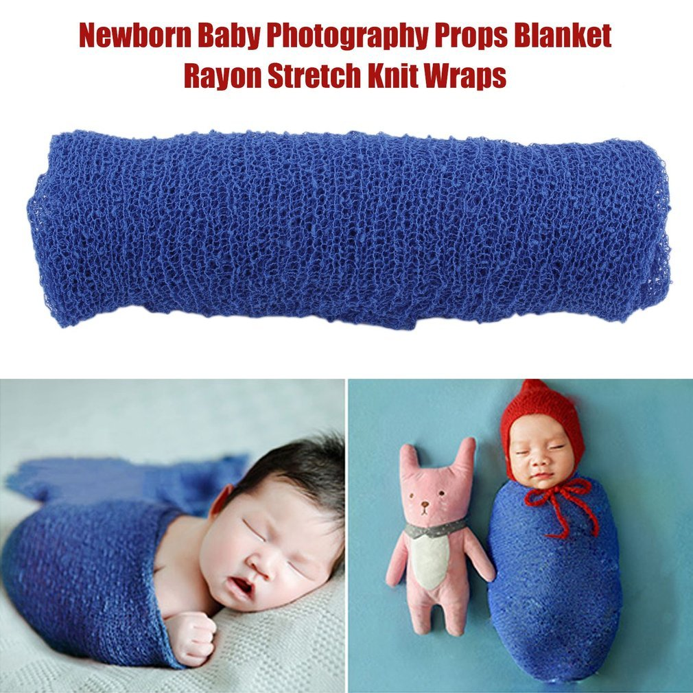 Newborn Baby Photography Props Blanket Rayon Stretch Knit Wraps 40 * 150cm Baby Rayon Wraps Stretch Knit Wrap Newborn Photo Props Hemore