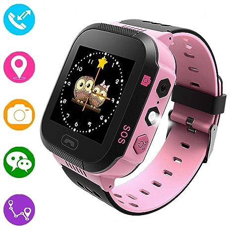 Reloj inteligente para niños, rastreador GPS para niños niñas ...
