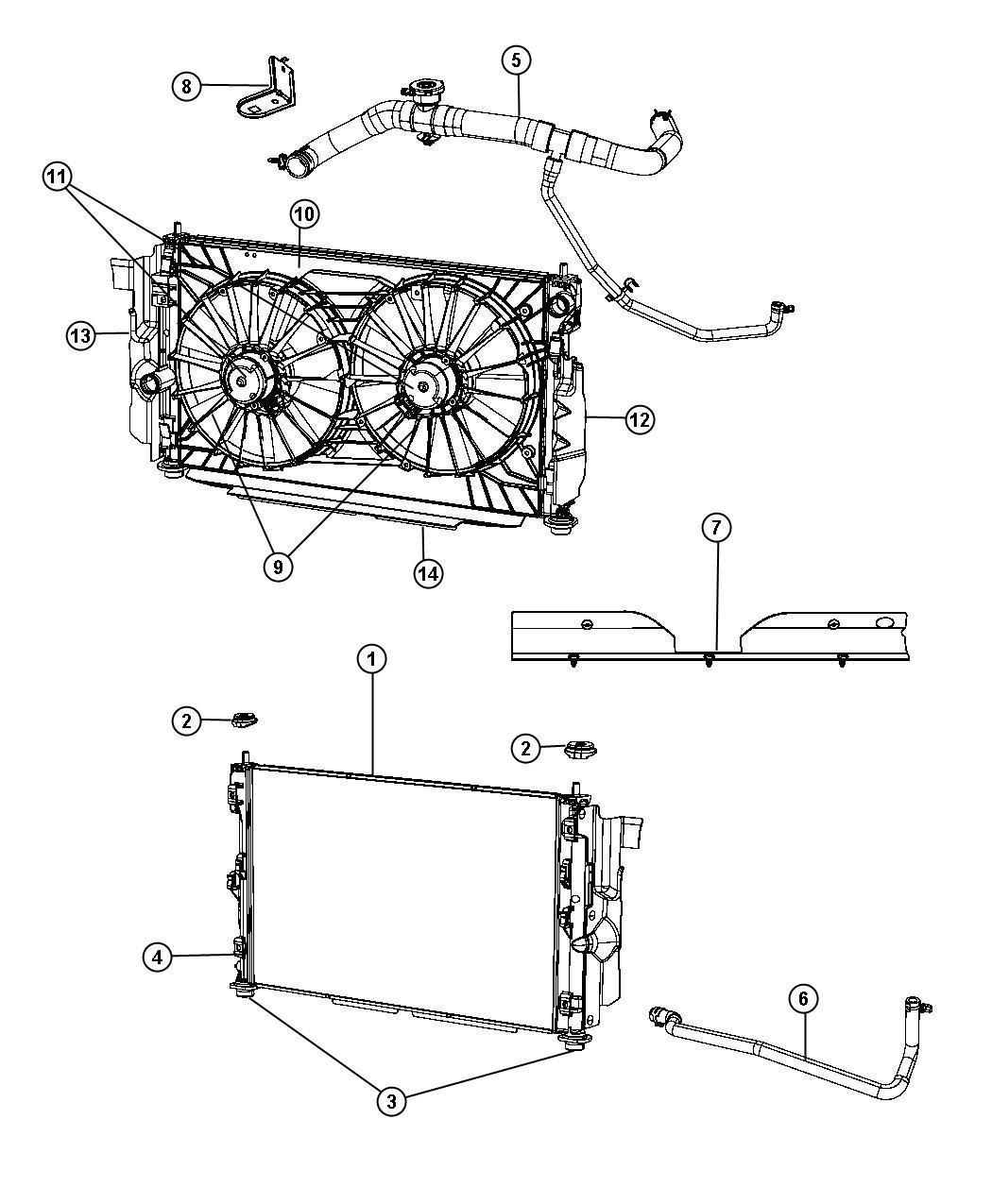 Engine Cooling Fan Motor Mopar 6803 1873AA