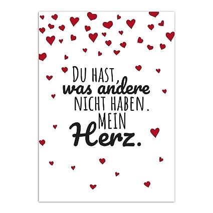 Karte Hochzeitstag Spruch.Postkarte Lieber Spruch Mit Herzen Moderne Karte Mit Umschlag Valentinstag Liebe Partner Hochzeit Jahrestag Paare