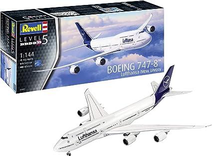 Neu Komplettset Revell 01111-1//144 Boeing 747-8 Fanhansa Siegerflieger