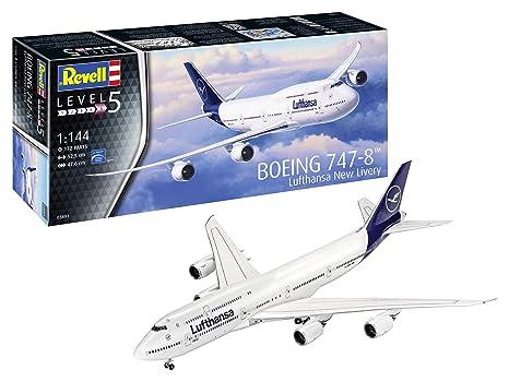 amazon com revell 03891 boeing 747 8 lufthansa new livery 1 144