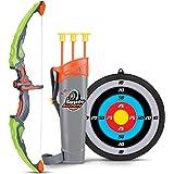 SainSmart Jr. Flèche et jeux de Tir À L'arc enfants Tir à l'arc avec 3flèches, cadeau pour garçon à partir de 6ans Vert