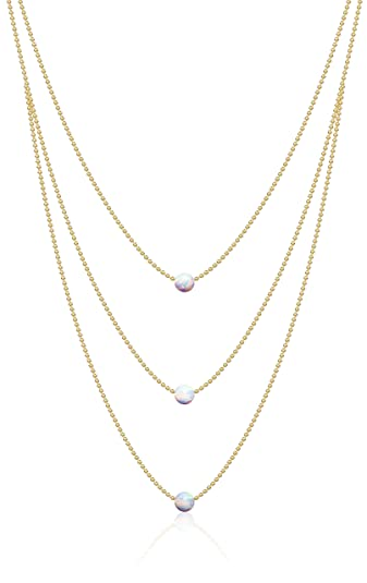 simply puffed yellow ip white heart necklace gold and pink