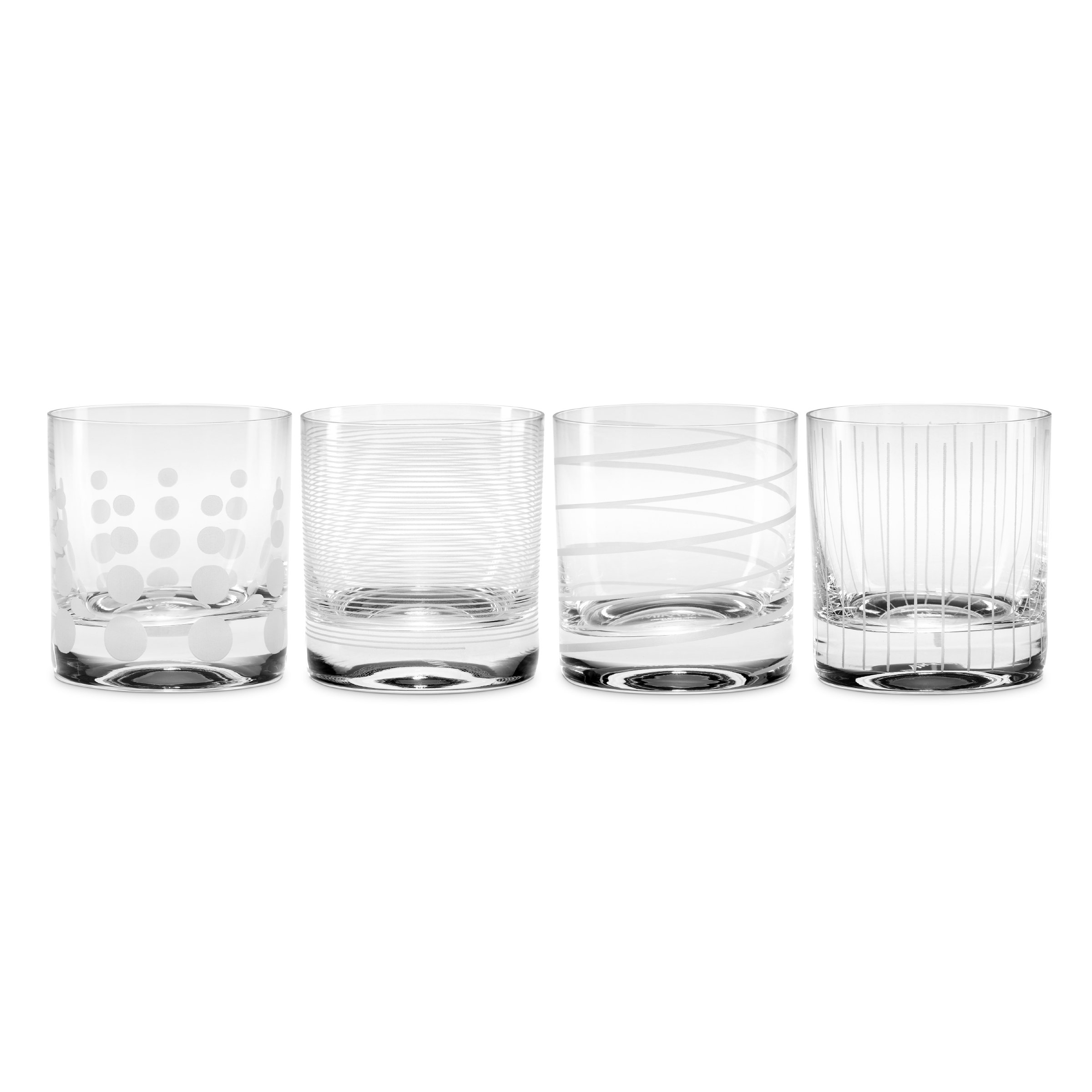 Mikasa Cheers Double Old Fashioned Glass, 12.75-Ounce, Set of 4 by Mikasa