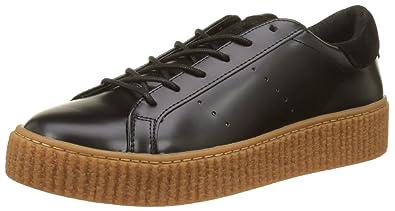 No Name Picadilly Sneaker Box, Baskets Basses Femme, Noir (Black Sole Mastic), 40 EU