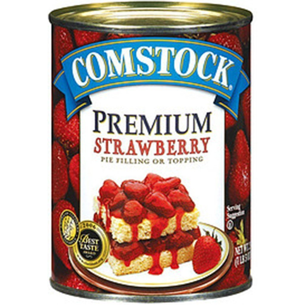 Comstock Strawberry Pie Filling/Topping - 21 oz - 2 pk by Comstock (Image #1)