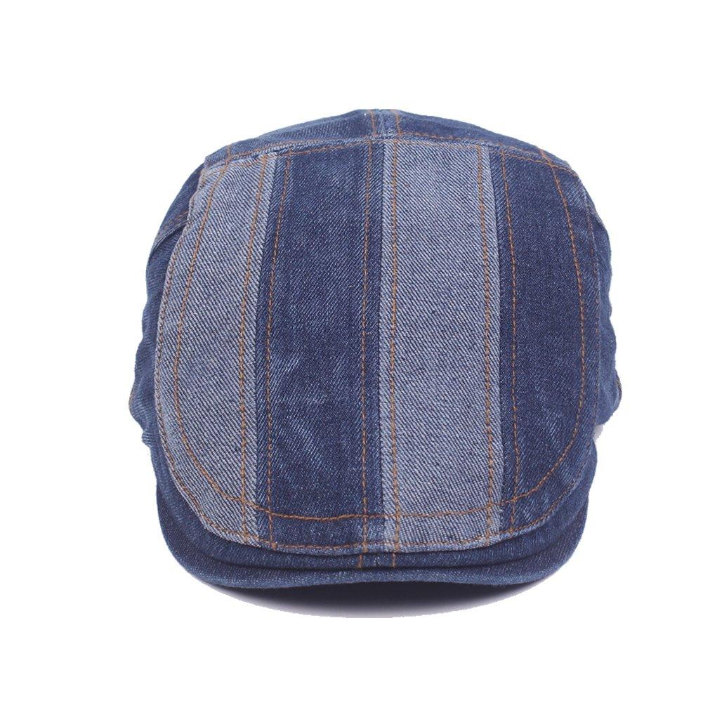 18ca1625 Denim Flat Cap Gatsby Newsboy Ivy Irish Hats Jean Cabbie Driving Scally  Duckbill Hat < Newsboy Caps < Clothing, Shoes & Jewelry - tibs