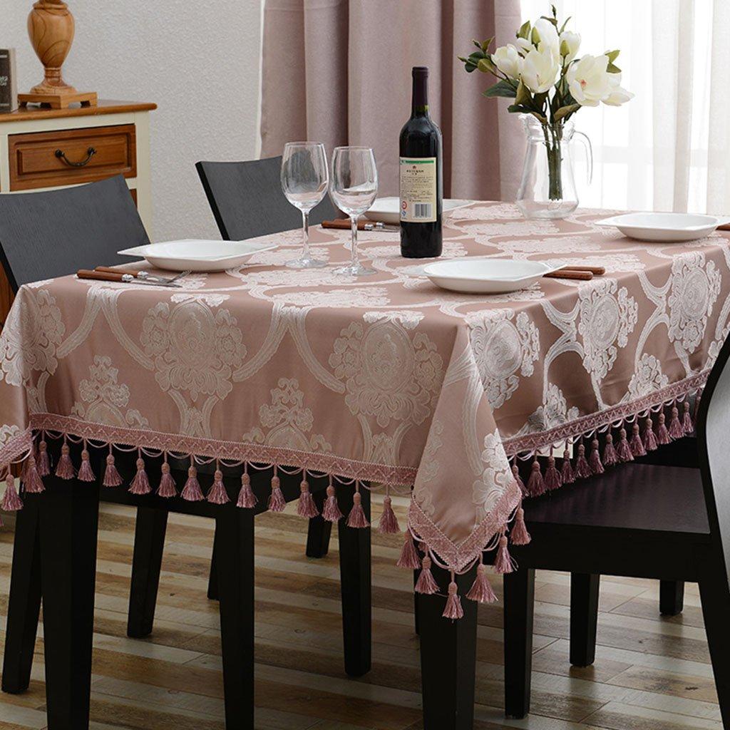 Europäische Tischdecke Tischdecke Rechteck Europäischen Tee Tisch Eine Lange Tischdecke Wohnzimmer Tischdecken (Farbe   B, größe   140  140cm) C 110170cm