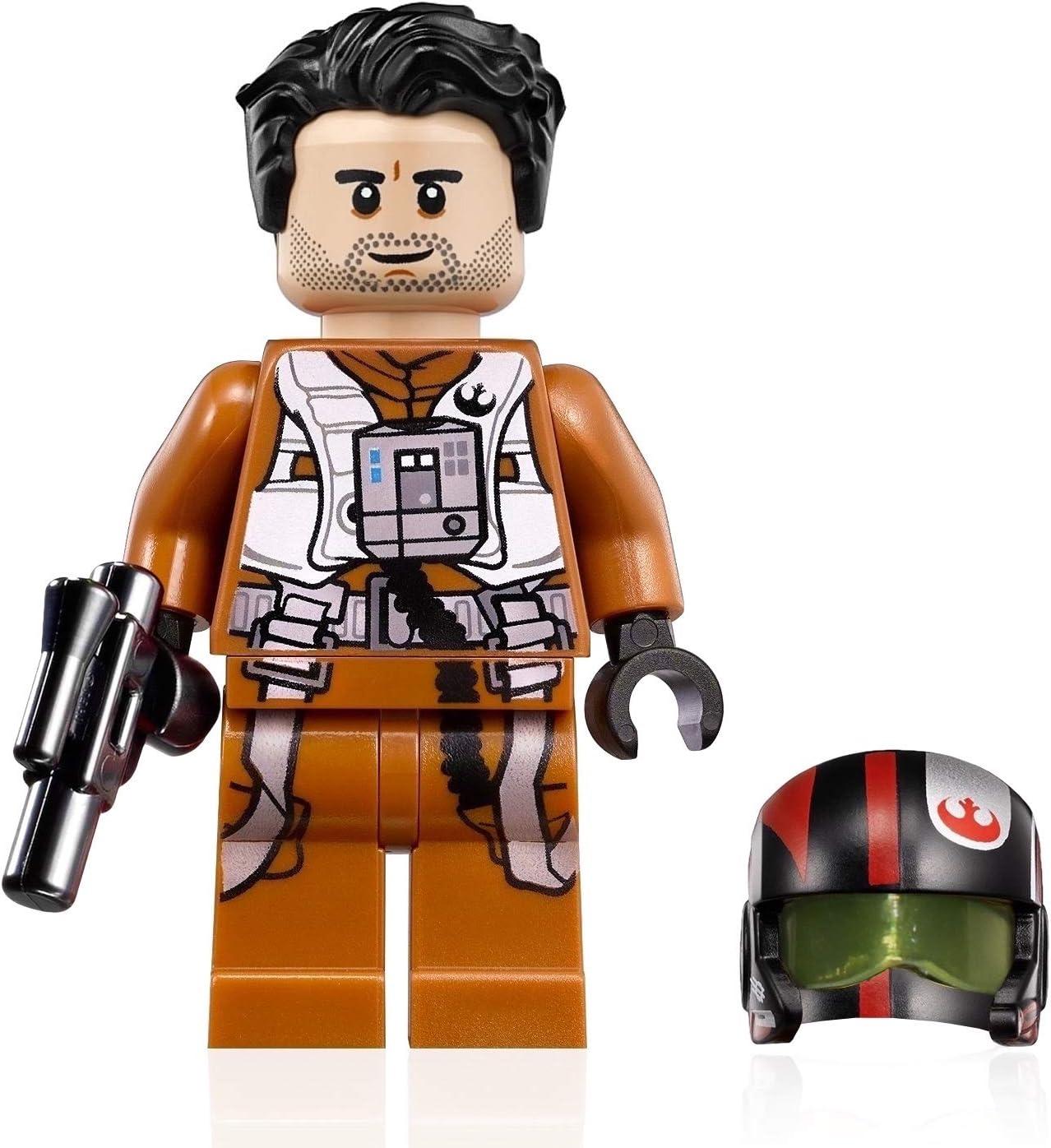 LEGO Star Wars Rise of Skywalker Minifigure - Poe Dameron (Pilot Jumpsuit with Helmet and Blaster) 75102