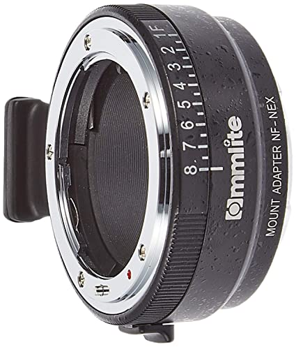 Commlite Manual Focus MF Lens Mount Aadpter with Aperture Dial for Nikon G,  DX, F, AI, S, D Type Lens to Sony E-mount Nex Camera A7, A7R, NEX-3,