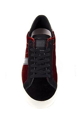 Velluto Newman e Sneaker t a D Velvet Scarpe Donna Nerorosso E3502 xqSwT1nv