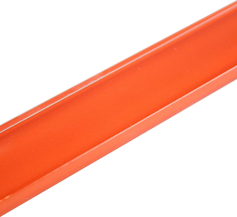 18 St/ück Kristallglasbord/üre//Vollglas Bord/üre Uni Orange 2,5 x 20 x 0,7cm