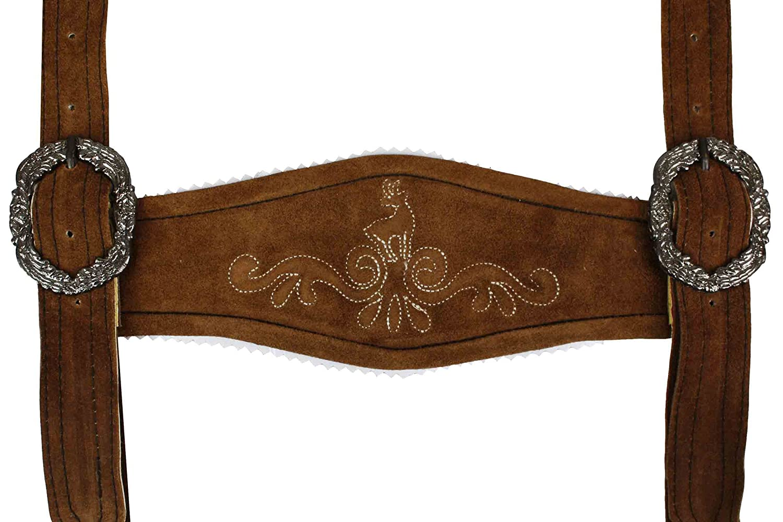 Trachten Lederhosen Klassische Hosenträger Trachtenmode H-Träger Kastanienbraun