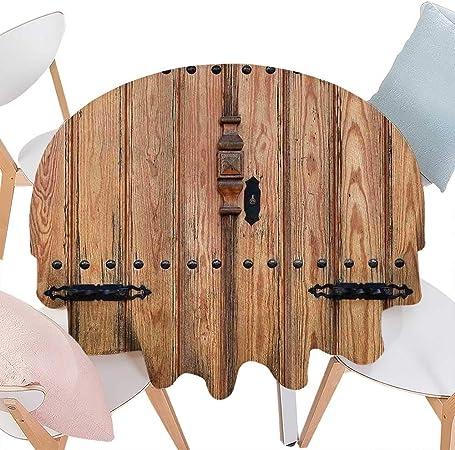 CobeDecor - Mesa de comedor rústica para decoración de madera, puerta rústica en la pared de una