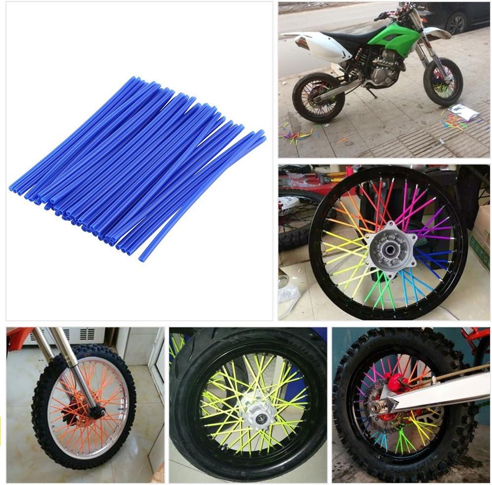 tuyaux d/écoratifs pour manteaux noir pour roues de moto garnitures Lot de 36 protections pour rayons de motocross