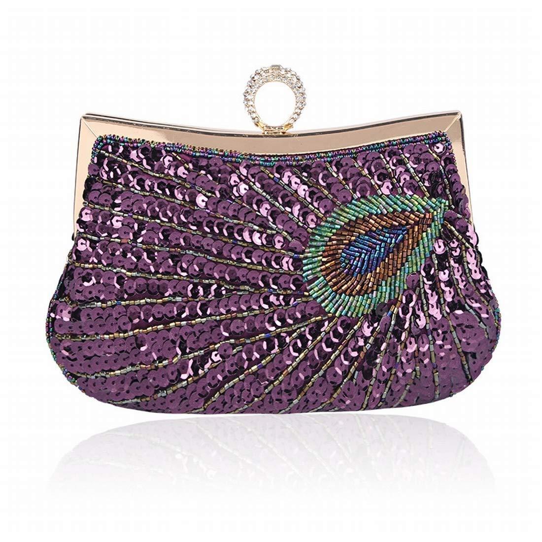 5b583bd259911 Jsfnngdv Frauen Handtaschen Multi Farbe Abendtaschen Kristall Party  Kupplungen Kupplungen Kupplungen Tasche (Farbe lila) B07QN411YJ Clutches  Günstigstes ...