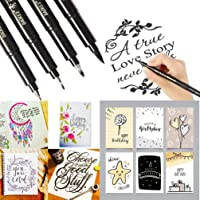 Signature pen -TAOtTAO 4 Sizes Ink Calligraphy Pen Hand Lettering Pens Brush Markers Drawing Art Marker