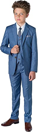 Monaco Blue Slim Fit Suit Paisley of London X-Large Boys Formal Occasion Wear Set 20