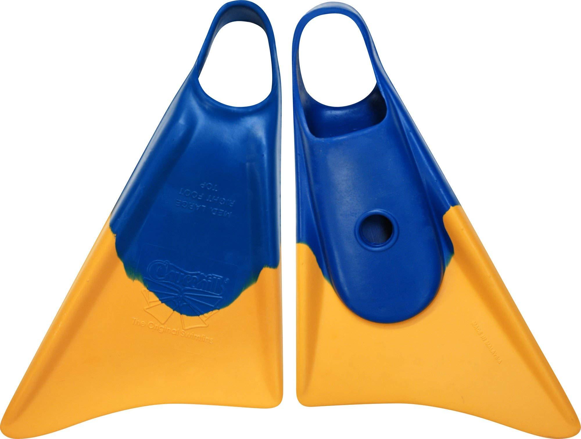 Churchill Makapuu Swimfins (Blue / Yellow - ML)