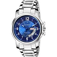 Laurels Lwm-inc-030707 Analog Blue Dial Men's Watch-Lwm-Inc-030707