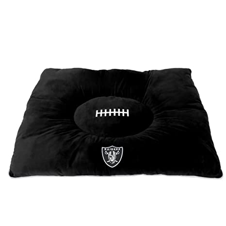 757dd2730 NFL PET Bed - Oakland Raiders Soft   Cozy Plush Pillow Bed. - Football Dog
