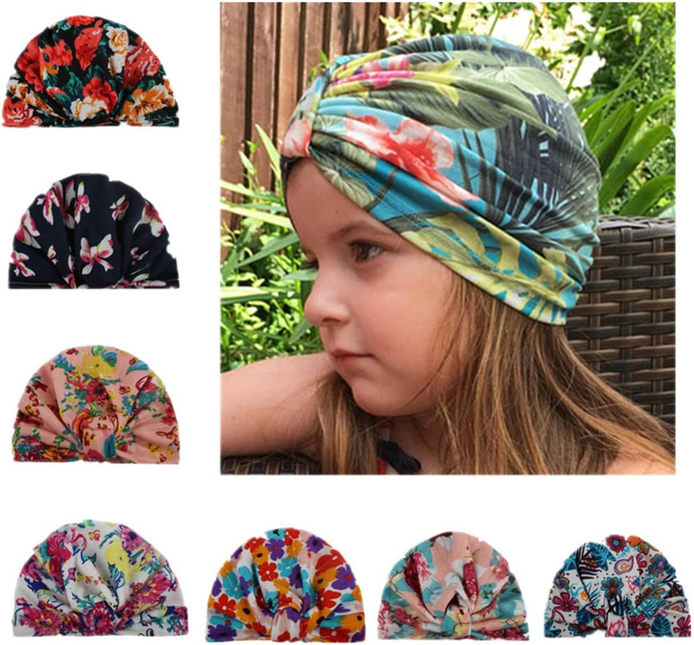 MUUZONING 7 PCS Cute Baby Girls//Boys Headband Set Elastic Turban Head Dress Hair Bow Hair Wraps Hairbands For Toddler Kids Photography,Costume,Party Christening Gift #022 For Baby Shower,Birthday