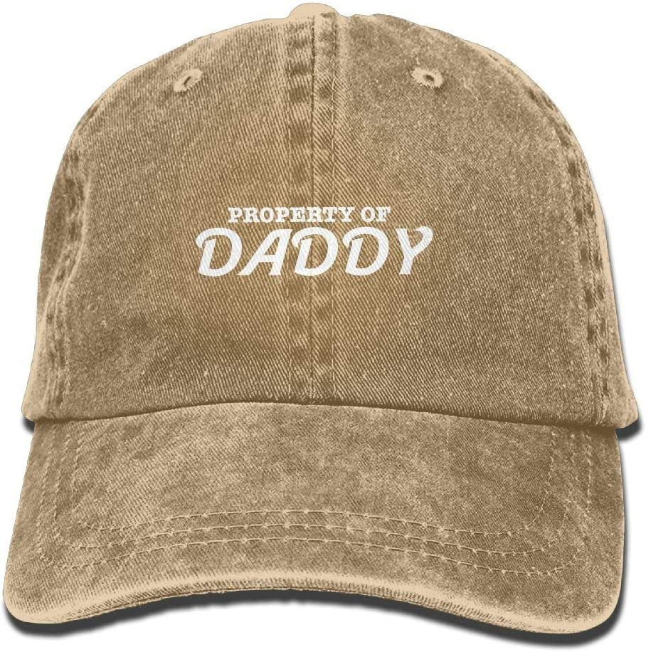 Hoswee Baseballm/ütze H/üte Kappe Property of Daddy Plain Adjustable Cowboy Cap Denim Hat for Women and Men