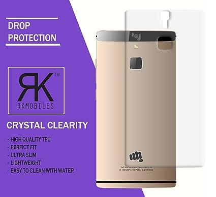 pretty nice d016d c971c RKMOBILES Micromax Canvas 6 E485 Ultra Thin 0.3mm Clear Transparent  Flexible Soft TPU Slim Back Case Cover (For Micromax Canvas 6 E485)