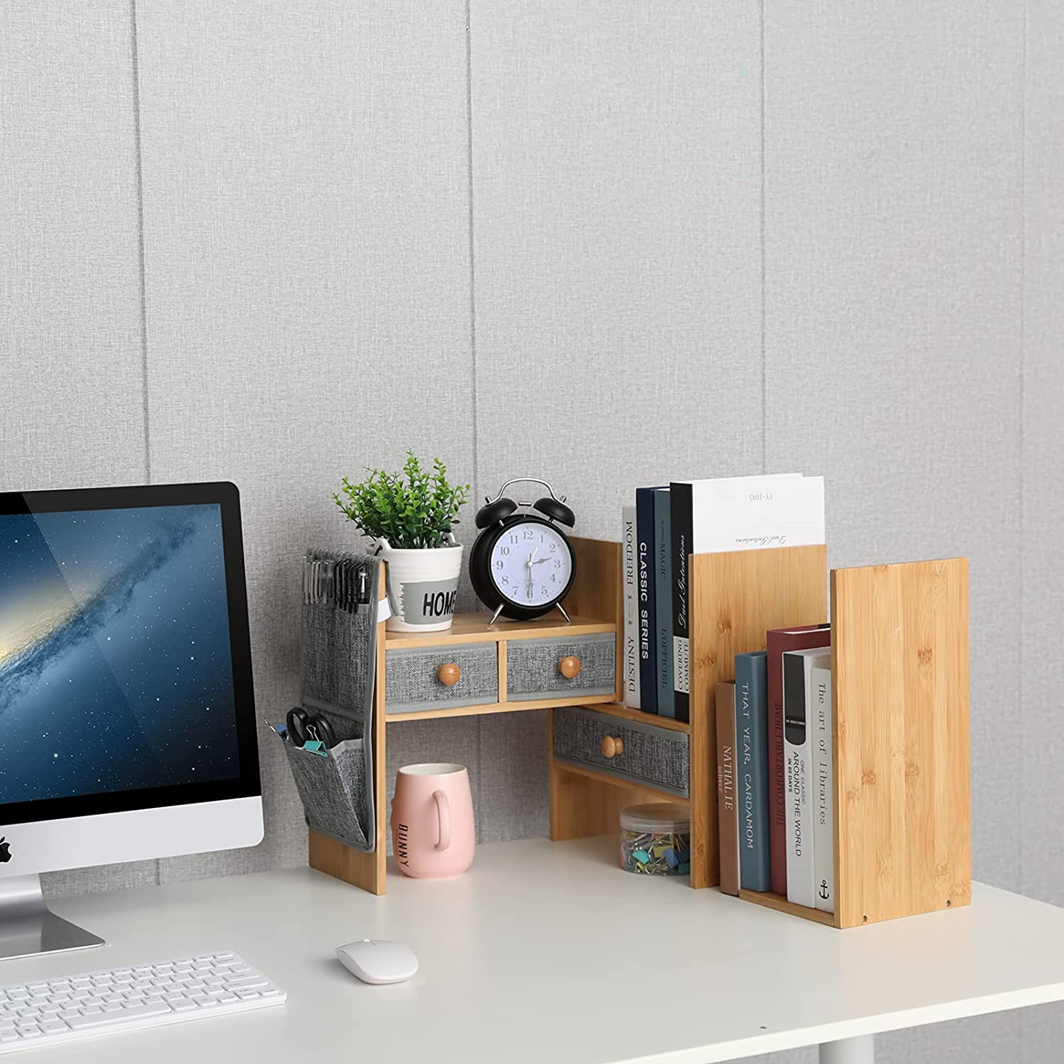 Desktop & Off-Surface Shelves Office Products X-cosrack Bamboo ...