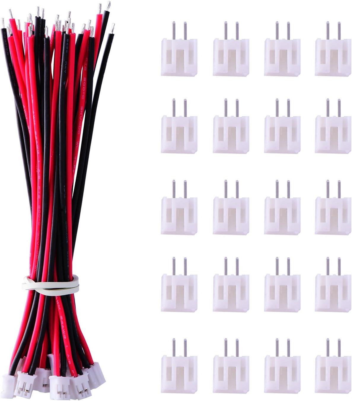 JST PH 2,0 mm 2Pin 2 Pin Stecker und  Buchse mit Kabel