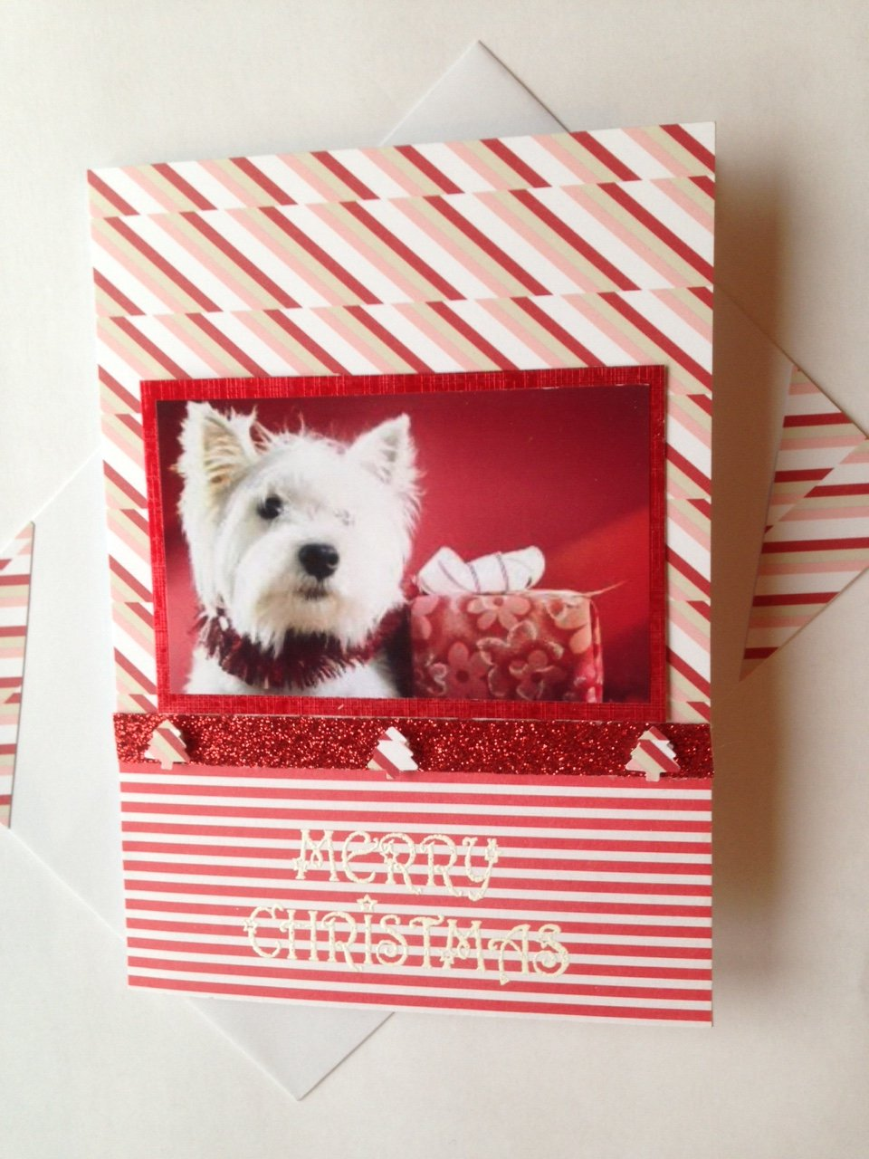 Amazon.com: WESTIE Christmas dog card Handmade Greetings West ...