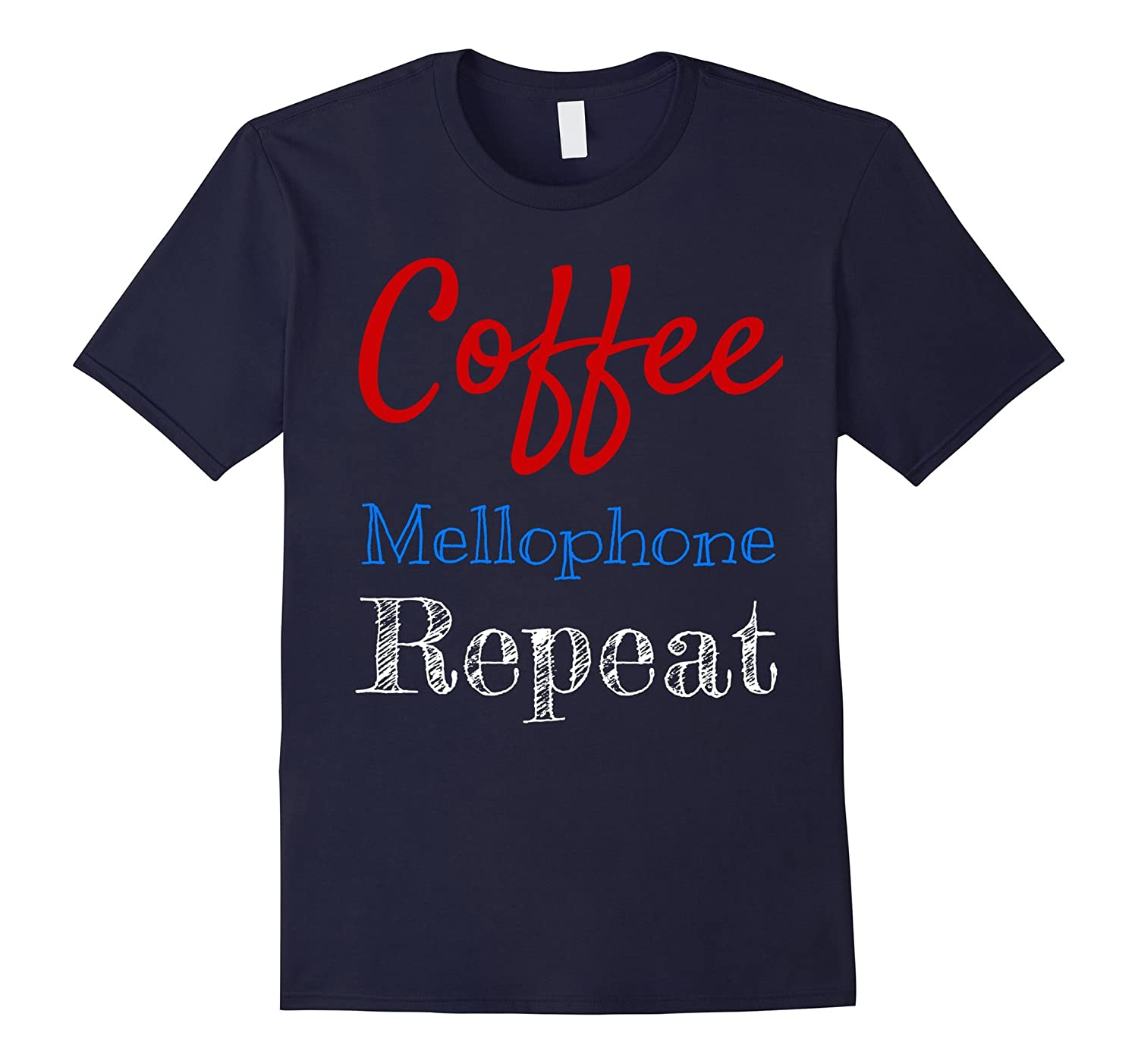 Coffee Mellophone Repeat Marching Band T-Shirt-Art