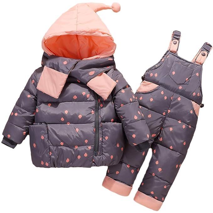 Adorel Traje de Nieve Chaqueta de Plumas Conjunto para Bebés ...