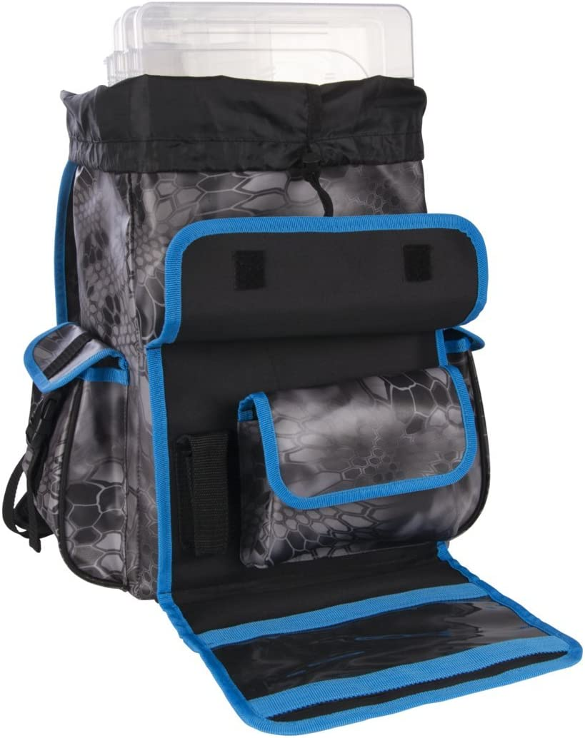 Plano PLAB36800 Tackle Storage, Z- Series Rust Free 3600 Size Tackle Bag, Kryptek Raid/Blue, Includes Five 3650 Stowaway Boxes, No-Slip Molded Bottom Design, Premium Tackle Storage, Kryptek Raid Blue: Sports & Outdoors