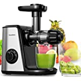 Masticating Juicer Machines, Bonsenkitchen Cold Press Juicer for Fruit & Vegetable, Easy to Clean, BPA Free, Quiet Motor…