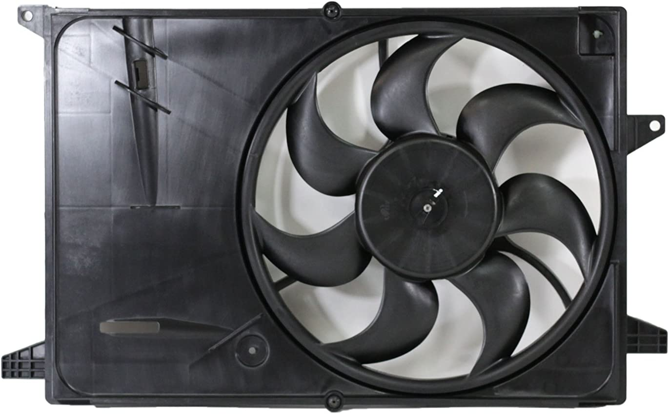 Dual Radiator and Condenser Fan Assembly Cooling Direct Fit//For 42426778 16-17 Chevrolet Spark