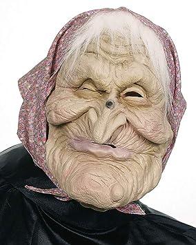 Máscara de bruja (con pañuelo y peluca)