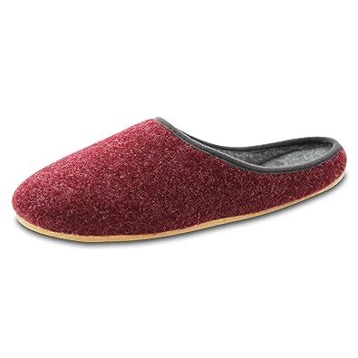 OLShop AG Damen Rot Filz Pantoffeln mit Filzsohle Gr. 38 nZomvr