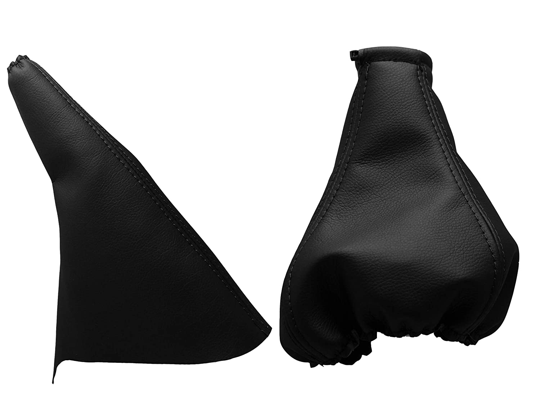 Para OPELTIGRA Funda para Palanca de Cambio y Freno 100/% Piel Color Negro 1994-2009