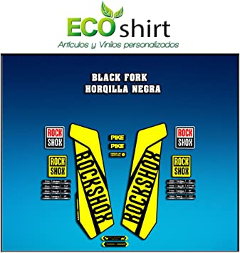 Bleu clair Ecoshirt 9P-QW4Z-AJZR Stickers Fourche Rock Shox Pike 2016 Am107 Fork Aufkleber Decals Autocollants Fourche Gabel