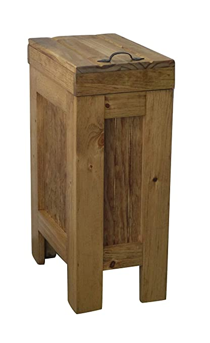 amazon com buffalowood shop wood trash bin kitchen trash can wood rh amazon com wooden garbage bins kitchen wooden garbage bins kitchen