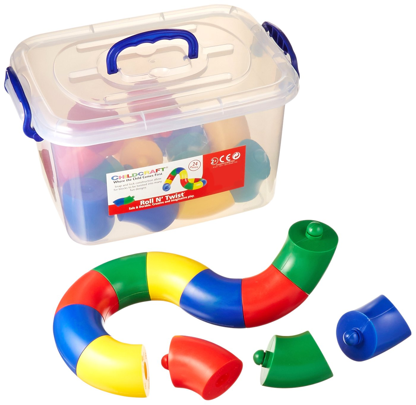 Childcraft Toddler Manipulatives Roll and Twist Set of 24