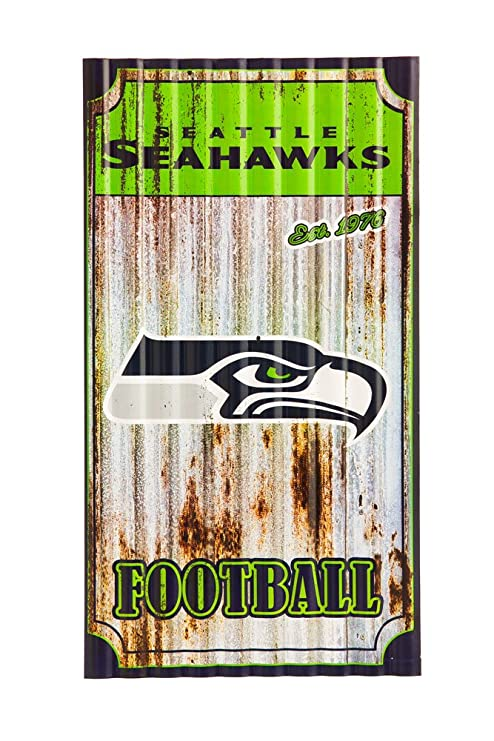 Nfl seattle seahawks corrugated metal wall art small multicolored
