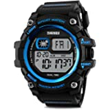 Men's Digital Sports Watch, Big Dial Digital LED Backlight Alarm Countdown Military 50M Water-resistant Multifunction Chronograph Wristwatches Outdoor